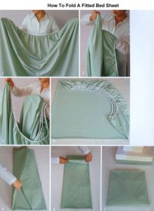 fold fitted bed sheet