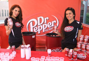 LOS ANGELES, CA - OCTOBER 20: Dr Pepper models attend the 2013 Latin GRAMMY Street Parties at Plaza Olvera on October 20, 2013 in Los Angeles, California. (Photo by Maury Phillips/WireImage)