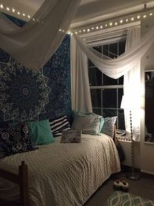 blue dorm decor