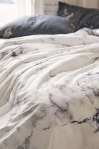 grey marble bed
