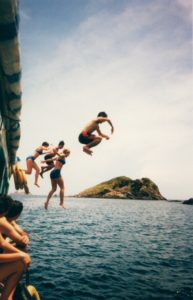 jumping waterr