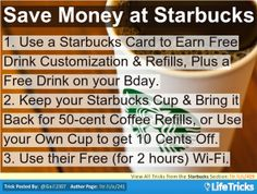 starbucks money saving